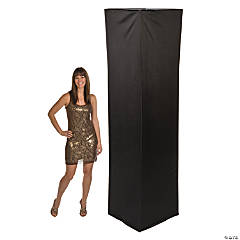 Fabric Square Column Slip Cover - Black
