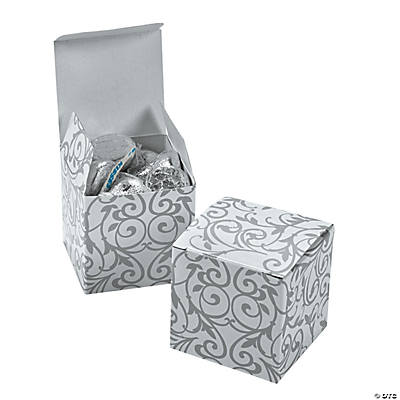Silver Swirl Gift Boxes