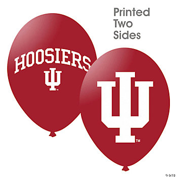 NCAA™ Indiana Hoosiers Latex Balloons