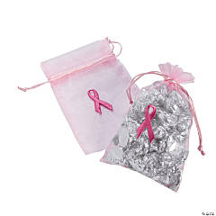 Breast Cancer Awareness Organza Bags