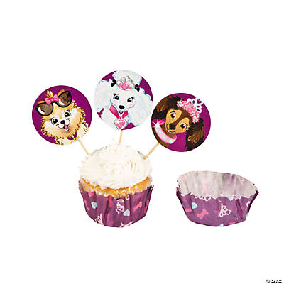 Fashion Puppies Cupcake Liners with Picks