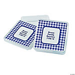 Personalized Purple Gingham Square Favor Containers