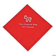 Personalized Democrat Red Lunch Napkins