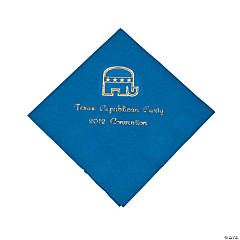 Personalized Republican Blue Beverage Napkins