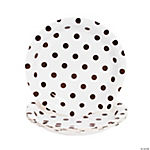 Chocolate Brown Polka Dot Dessert Plates