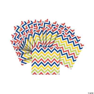 Chevron Pattern Bright Beverage Napkins