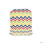 Chevron Pattern Bright Square Dessert Plates
