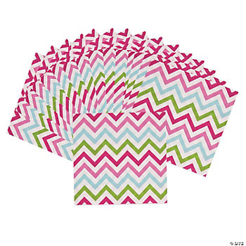 Chevron Pattern Fashion Beverage Napkins