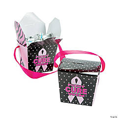 Pink Ribbon Takeout Boxes