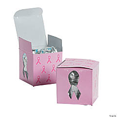 Pink Ribbon Die Cut Gift Boxes