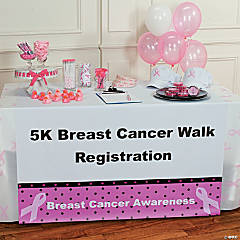 Personalized Breast Cancer Awareness Table Runner