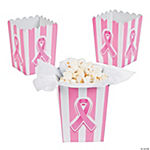 Pink Ribbon Popcorn Boxes