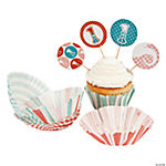 1st Circus Baking Cups With Picks
