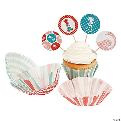 1st Circus Cupcake Liners with Picks