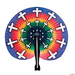 Bright Religious Folding Fans