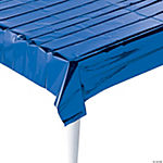 Metallic Blue Tablecloth