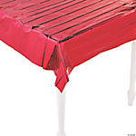 Metallic Red Tablecloth