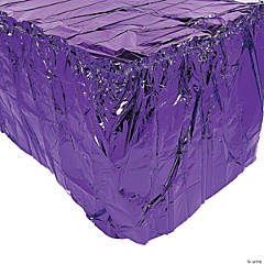 Purple Metallic Table Skirt