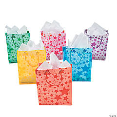 Frosted Star Print Gift Bags