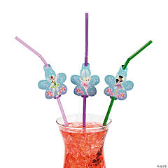 Ballerina Fairies Straws With Cutout