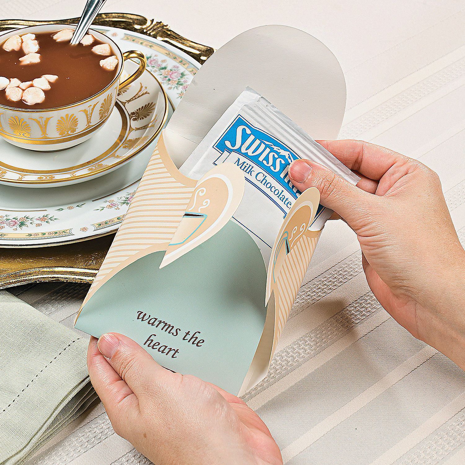 Winter Wedding Hot Chocolate Favor Boxes Oriental