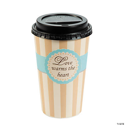 Love Warms the Heart Insulated Coffee Cups