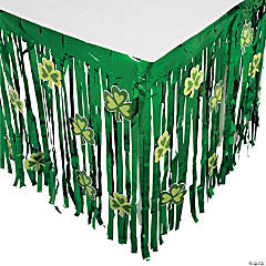 St. Patrick's Day Table Skirt With Cutouts