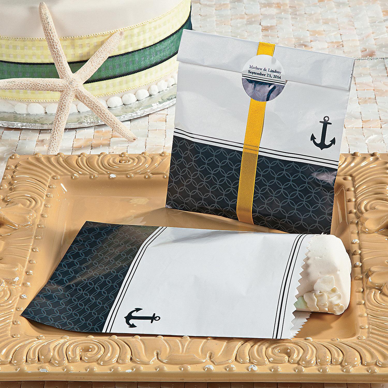 nautical wedding cake bags oriental trading. Black Bedroom Furniture Sets. Home Design Ideas