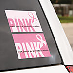 Mini Pink Ribbon Window Clings