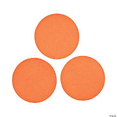 Orange Jumbo Dot Confetti
