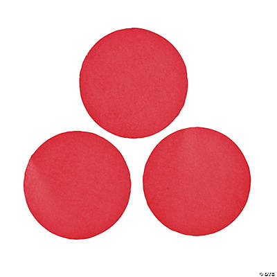 Red Jumbo Dot Confetti