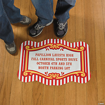 Personalized Carnival Floor Cling