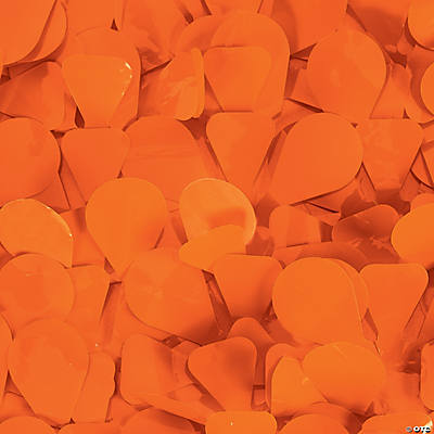 Orange Floral Sheeting