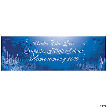 Personalized Large Under The Sea Banner