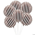 Chocolate Stripes Mylar Balloons