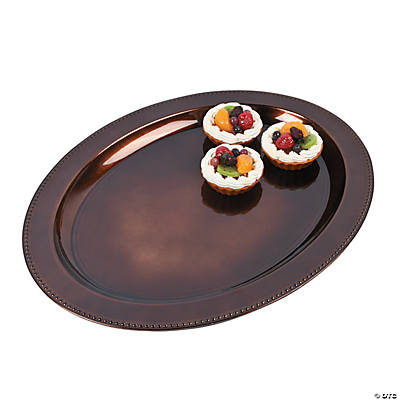 Elegant Brown Fall Oval Platter