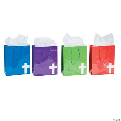 Medium Bright Cross Gift Bags