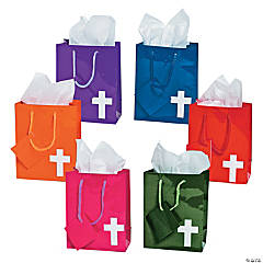 Small Bright Cross Gift Bags