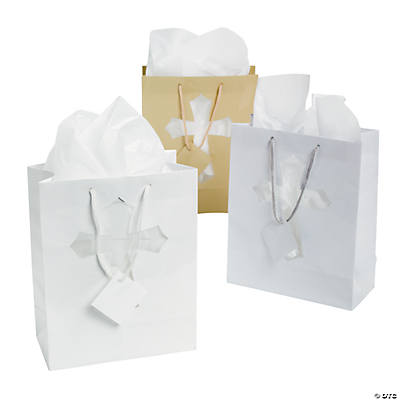 Medium Die Cut Cross Gift Bags