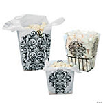 Black & White Candy Buckets