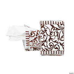 Chocolate Brown Wedding Facial Tissue Packs