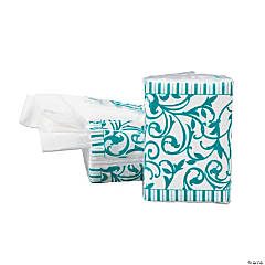 Turquoise Wedding Facial Tissue Packs