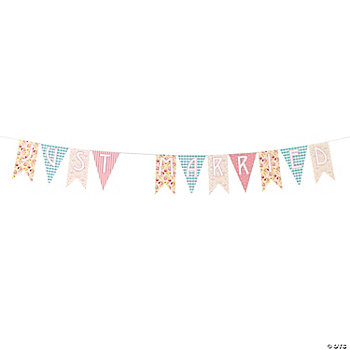 "Vintage Collection ""Just Married"" Pennant Banner"