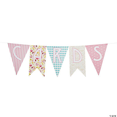 "Shabby Chic ""Cards"" Pennant Banner"