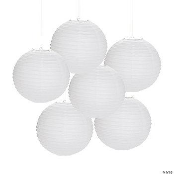 White hanging paper lanterns - White hanging paper lanterns ...