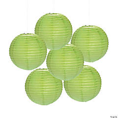 Lime Green Paper Lanterns