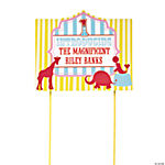 "Personalized 1st Birthday Circus ""Introducing"" Yard Sign"