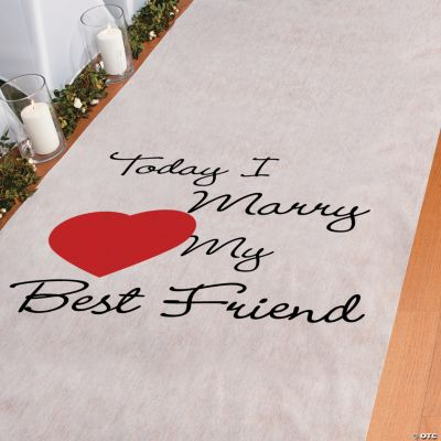 Today I Marry My Best Friend Aisle Runner