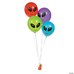 Latex Alien Head Balloons