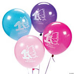 1st Birthday Butterfly Latex Balloons